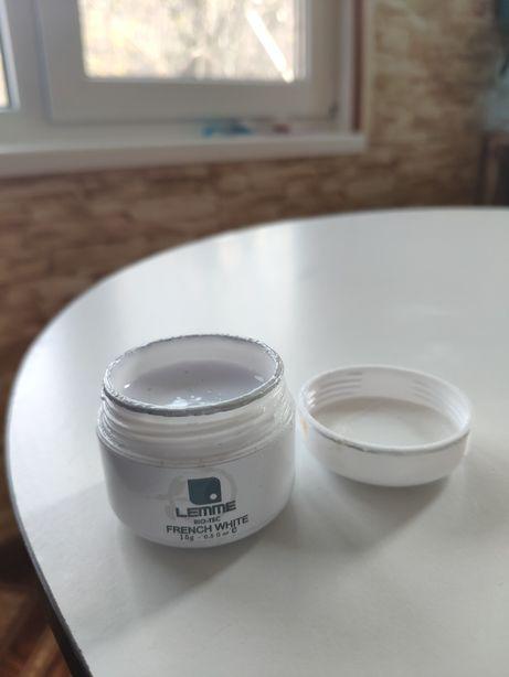 Гель для наращивания, френча. Белый Lemme French White, 15g. UV/LED