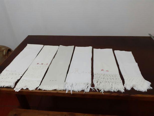 Seis bonitas toalhas