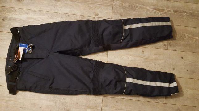 Spodnie Motocyklowe Policja,wodoodporne ochraniacze  roz .L Ret- Bike