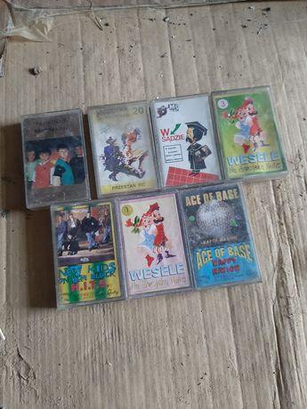 Stare zabytkowe kasety do magnetofonu kolekcjonerskie