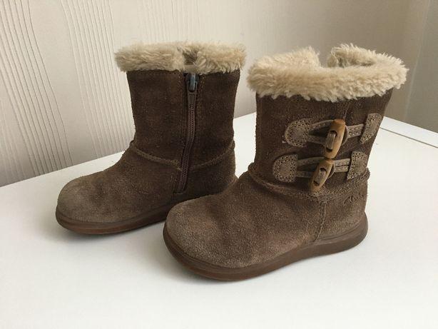 Śniegowce CLARKS r 22/23 kozaczki kozaki buty zimowe ocieplane geox