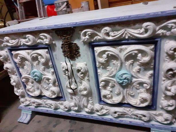 Arca de madeira maciça original