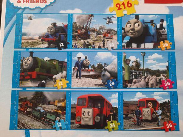 Puzzle Tomek i przyjaciele 9 szt w jednym opakowaniu.
