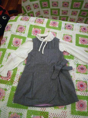Vestido e Blusa para menina conjunto Zara - 4/5 anos