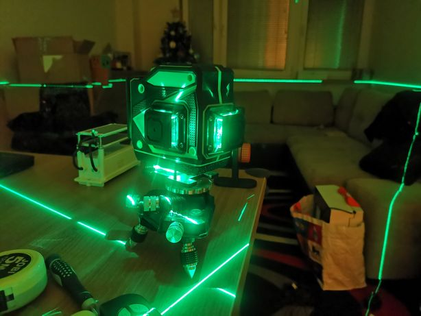 Laser krzyżowy 16 lini 360 poziomnica elektroniczna niwelator PILOT !