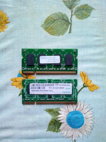 Оперативная память к ноутбуку, 2x1 GB