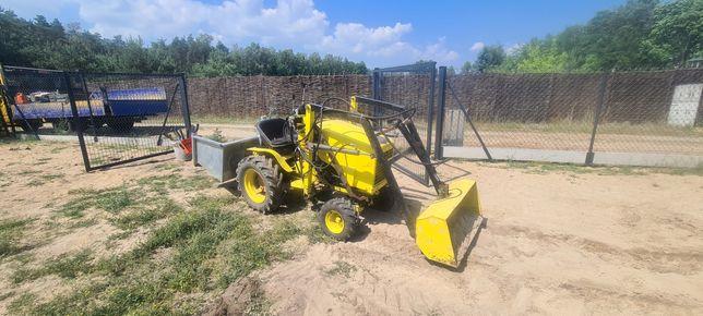Ciagniczek traktorek ogrodniczy Tur widły glebogryzarka mocny 35KM