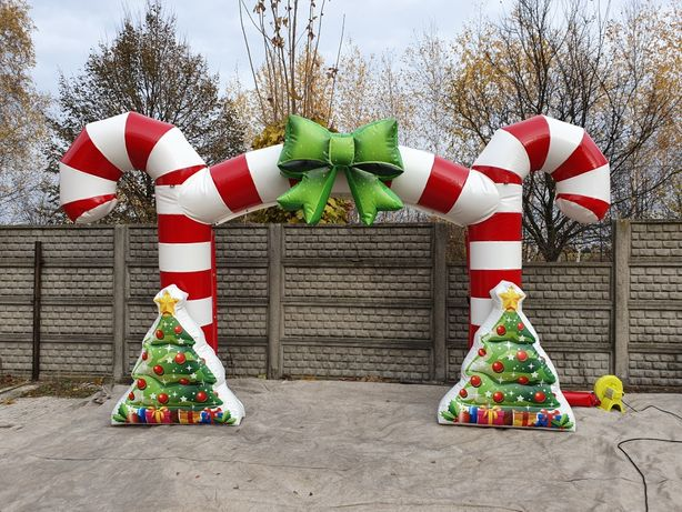 Dmuchana bramka świąteczna dekoracyjna reklamowa dmuchaniec
