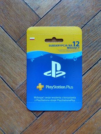 Subskrypcja PlayStation PS Plus PS+ 12 miesięcy 365 dni ZDRAPKA