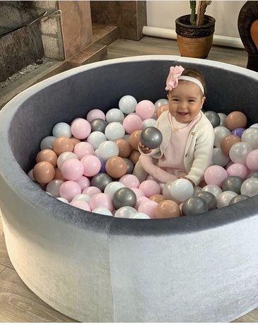 Сухой бассейн с шариками 200 шт по 8см,наложенный платёж,манеж