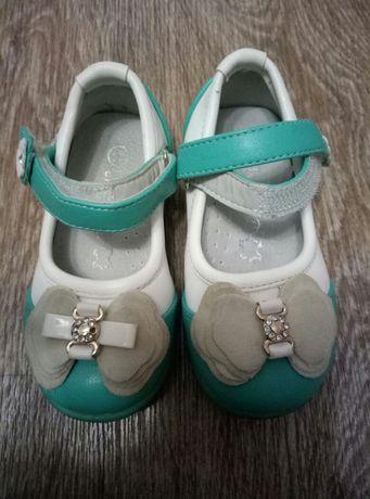 Кожанные туфли для девочки (300 р.)