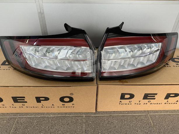 Фонари, ДХО Ford Edge 15-18. Titanium/Sport. Желтый поворот.