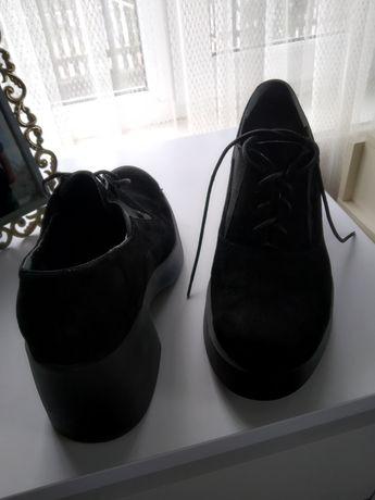 Жіночі туфлі замш, всередині шкіра