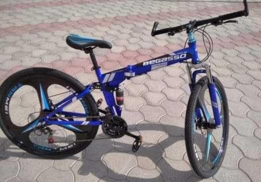 """Велосипед складной 29"""" BeGasso рама 19"""" синий цвет на рост 155-185 см"""