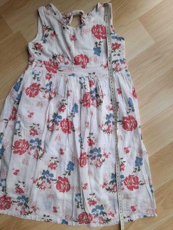 sukienka letnia, bawełniana 5-7 lat