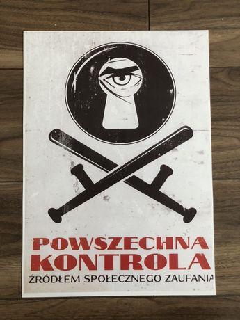 Plakat poster w stylu PRL nowy