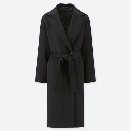 Шерстяное пальто халат uniqlo