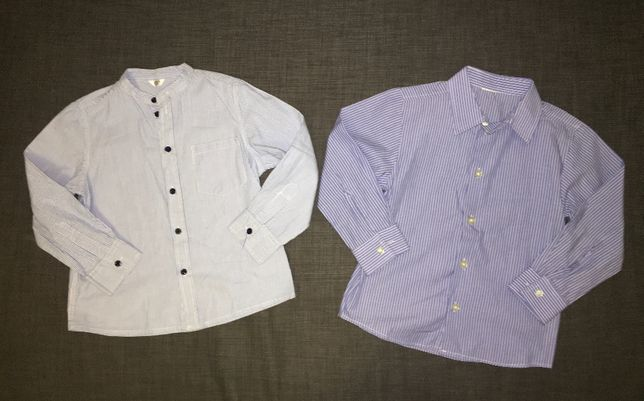 2 koszule w paski 5-6 lat 116cm