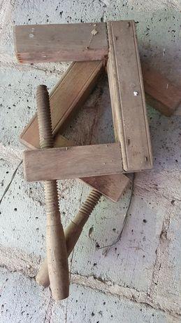 Ścisk drewniany stan idealny