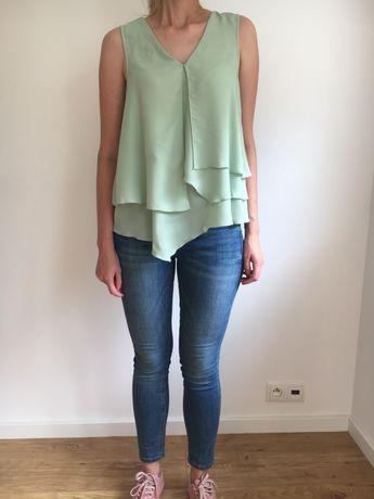Nowa bluzka miętowa h&m 36 S