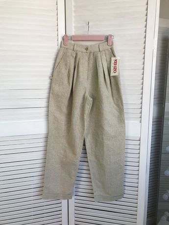 штани Kenzo з вмістом льону широкого крою нові, acne, dior