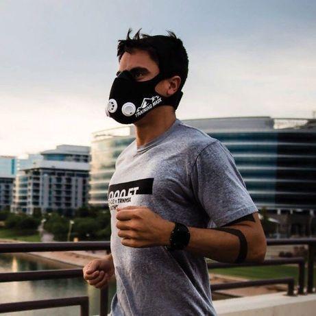 Оригинал! Маска для тренировки дыхания бега TRAINING Mask Кроссфит