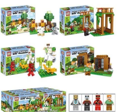 Minecraft конструктор Lego ,набор из 4 конструкторов
