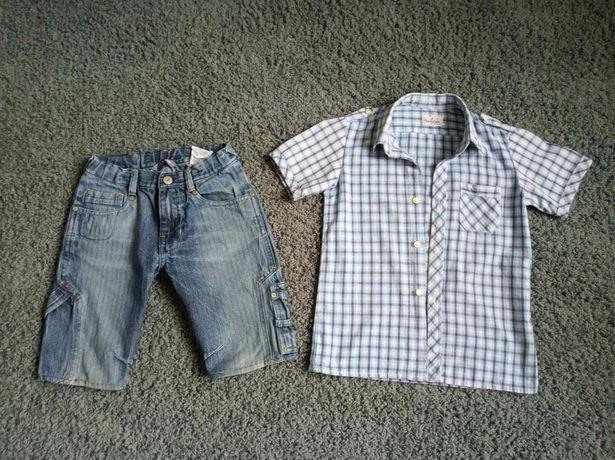 джинсовые шорты h&m +рубашка короткий рукав