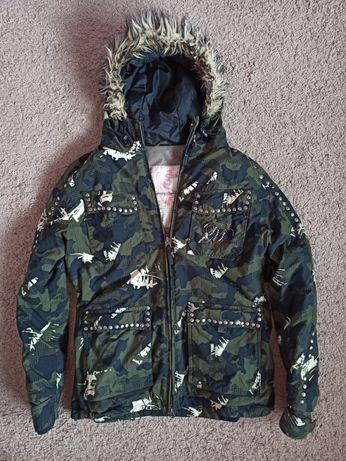 Куртка Plusminus лыжная лижна женская m мембранная с капюшоном хаки на
