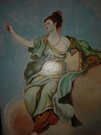 Картина маслом на фанері.