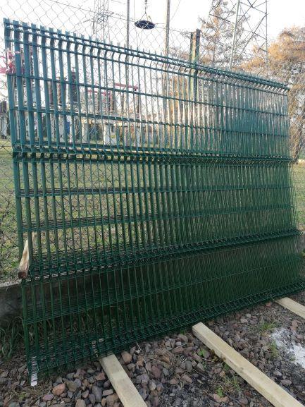 Panel NYLOFOR 3D zielony wys.203cm x250 cm, 5 mm, oczko 4,5cm x20 cm Kraków - image 1