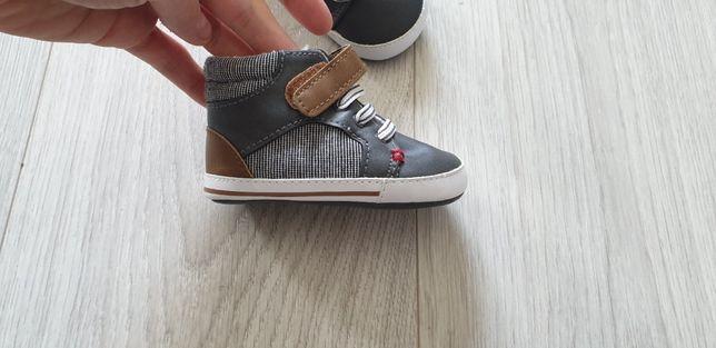Niechodki buciki niemowlęce buty trampki ocieplane OBAIBI, 3-6 mca