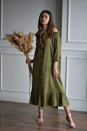Летнее льняное платье, платье из льна, льняное платье, сукня
