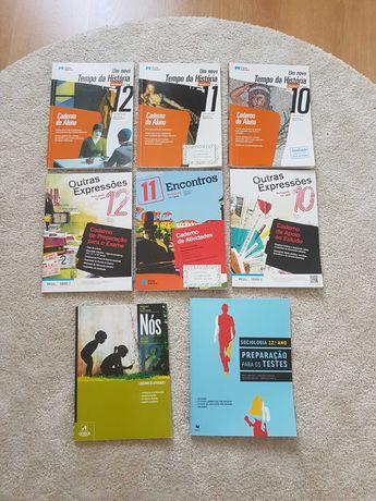 Cadernos de atividades 10o-12o ano