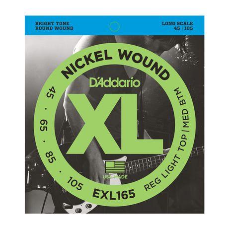 Struny do gitary basowej D'Addario EXL165 Nickel