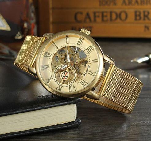 Женские наручные часы Forsining механические оригинальные скелетон