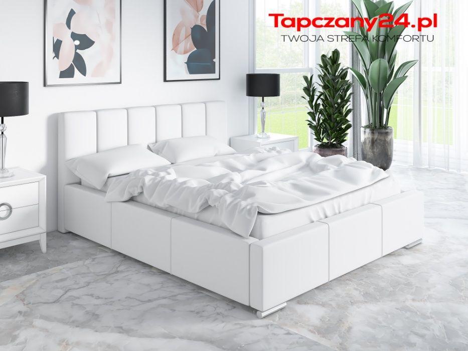Łóżko Zoe TAPICEROWANE Łoże małżeńskie Sypialniane z pojemnikiem