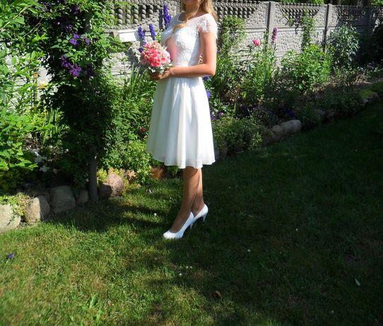 Sukienka ślubna krótka
