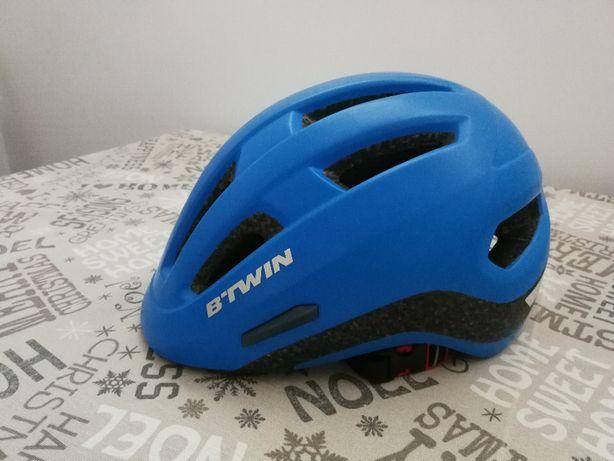 Kask rowerowy B'Twin CBH 500 Blue Decathlon