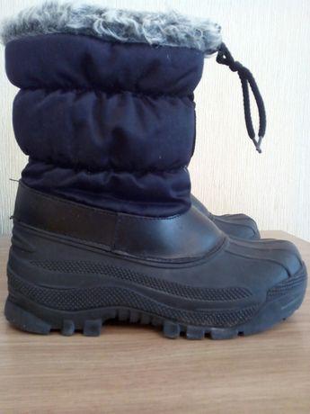 Зимние резиновые сапоги ботинки