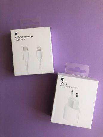 Быстрая зарядка блок 20В кабель на айфон шнур для iphone 7 8plus X 11