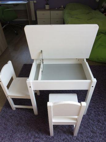 Zestaw IKEA Sundvik biurko (otwierane) + 2 krzesła
