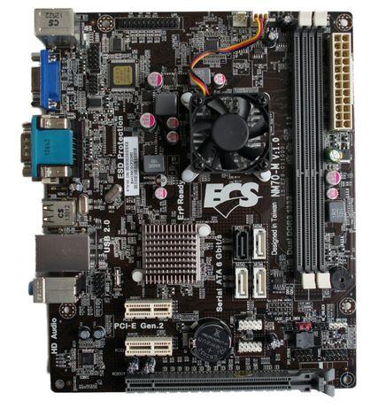 Продам материнку nm70-i2 dvi + процессор 1037u + 2Gb DDR3