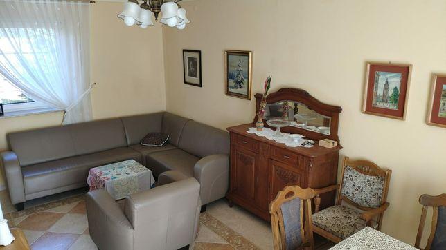 Kanapa narożna i fotel ze skóry Almi Decor