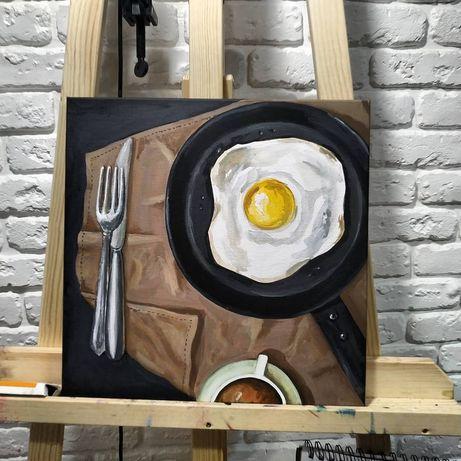"""Интерьерная картина в кухню """"Завтрак"""""""