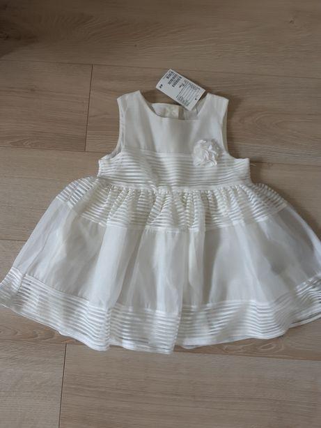 Nowa sukienka H&M 80 cm chrzciny chrzest roczek