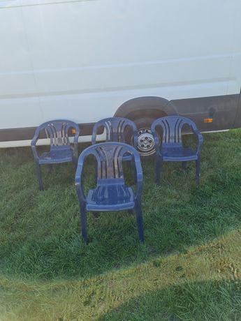 Krzesła plastikowe ogrodowe kettler