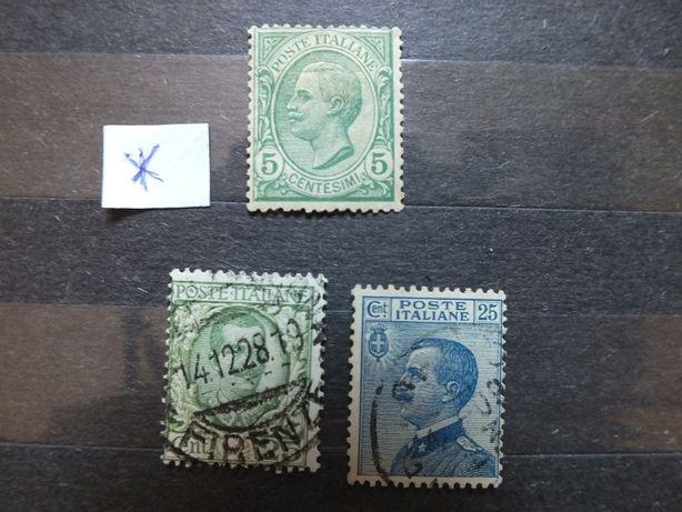 Znaczki Mi88/1906r.Włochy stan* czysty Mi90/1908r.Mi240/1926r.kasowane