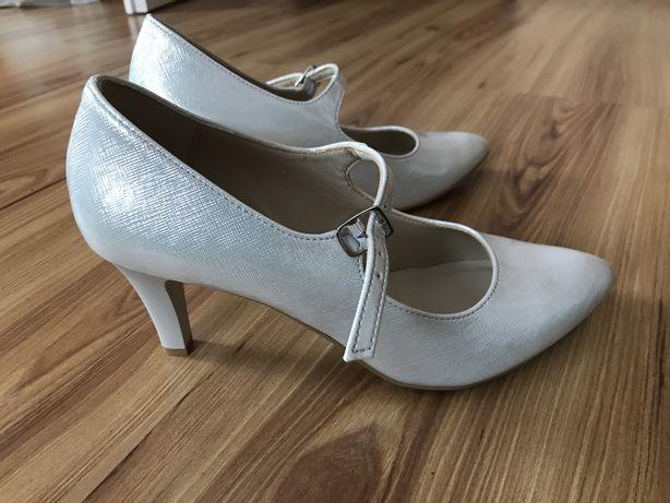 Buty szpilki czółenka Brilu ślubne, rozmiar 40