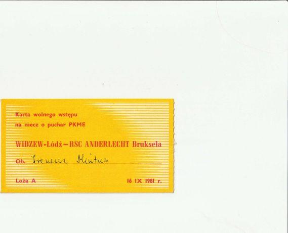 Bilet Widzew - Anderlecht